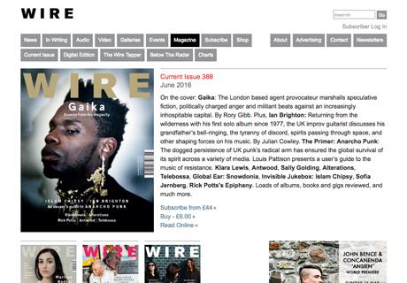 The Wire magazine online