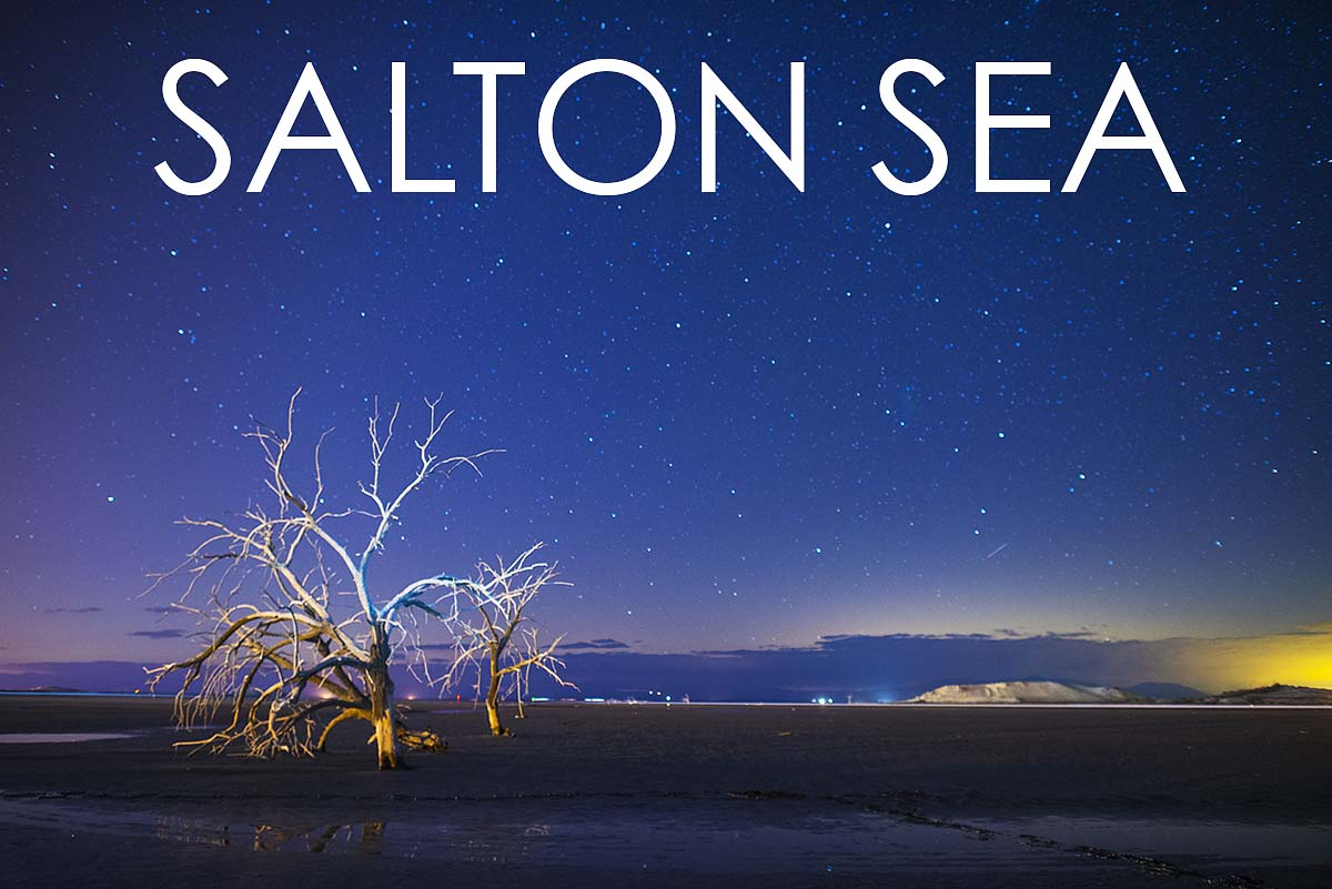 South End of the Salton Sea (SEOTSS) .5 miles south of Redhill Marina. 10:00 p.m., January 11th 2013.