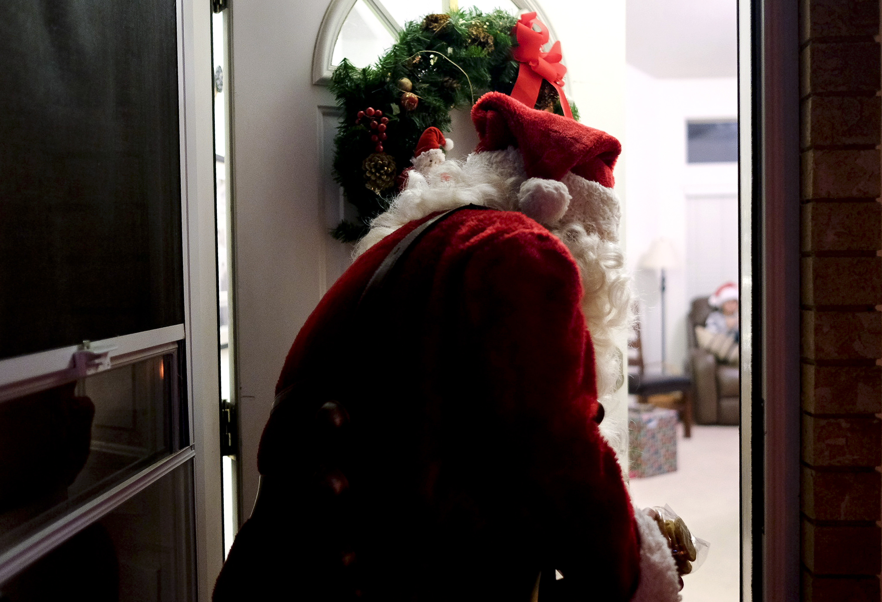 Isaac Hale Visual Journalist Rodeo Bundling 3 Maroon S David Carter Dressed As Santa Claus Exits A Christmas Party Friday Dec 9 2016 At The Quarnbergs Home In Lindon Has Been Dressing Up