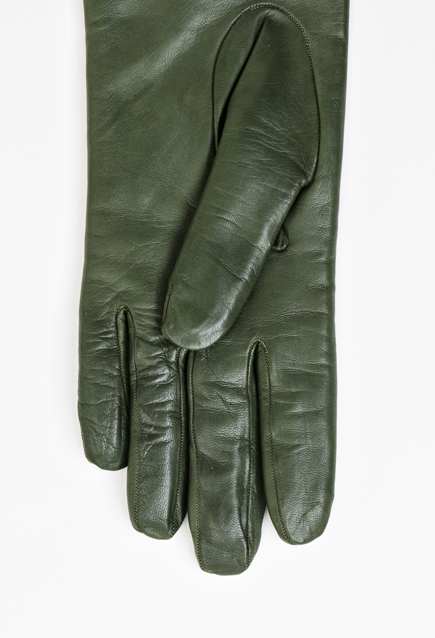 Samuji-fw16-long-leather-gloves-olive-green