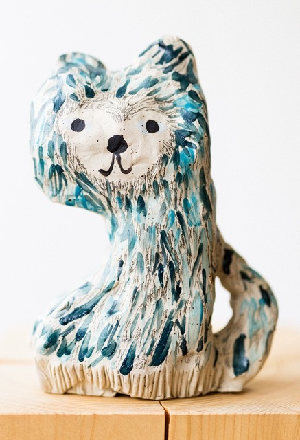 """Kissa"" Ceramic Statue"