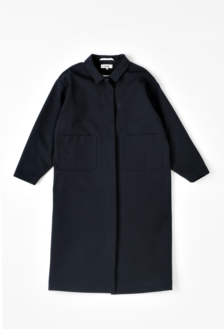 Samuji-ss17-sissa-coat-spring-twill-black