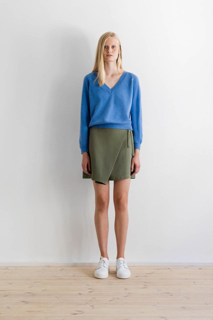 Samuji-ss17-abela-shirt-albany-blue-fulah-skirt-green