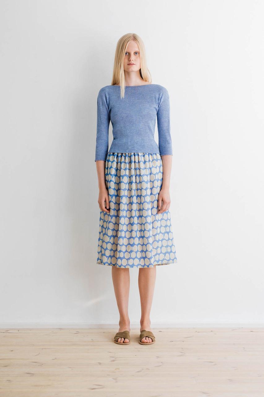 Samuji-ss17-papina-skirt-kamina-blue-pinar-sweater