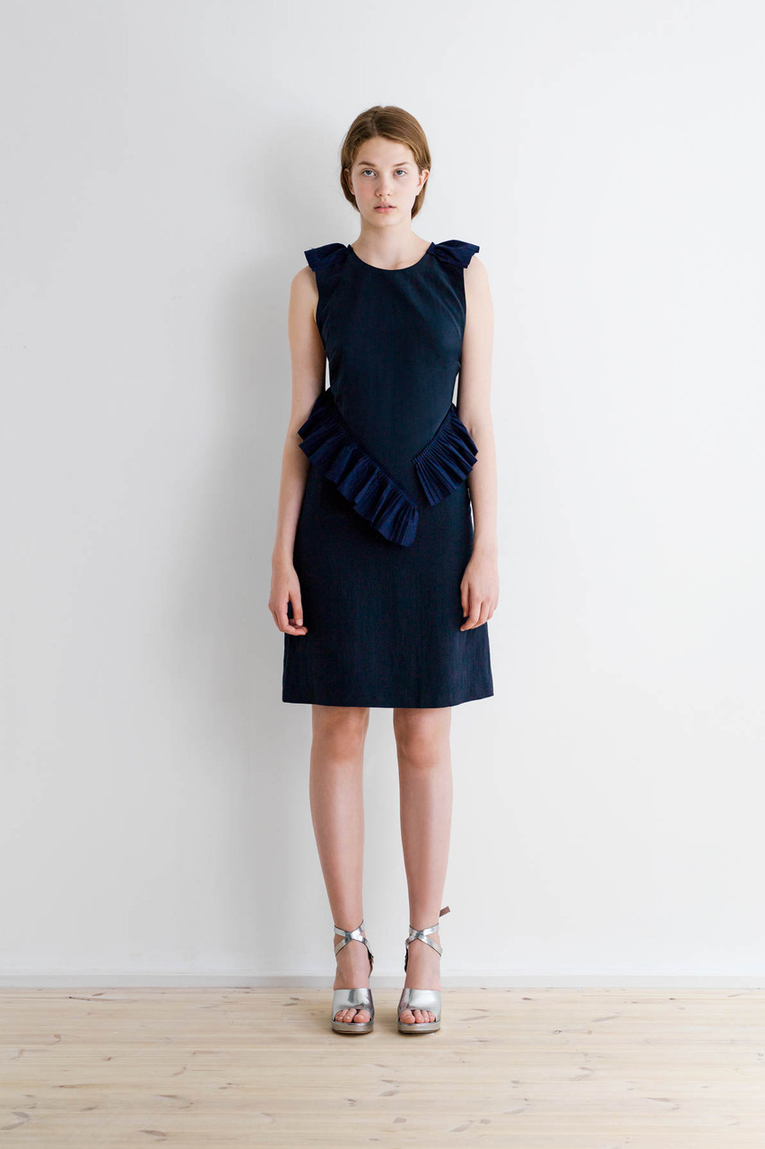 Samuji-ss17-maile-dress-matt-silk-navy-