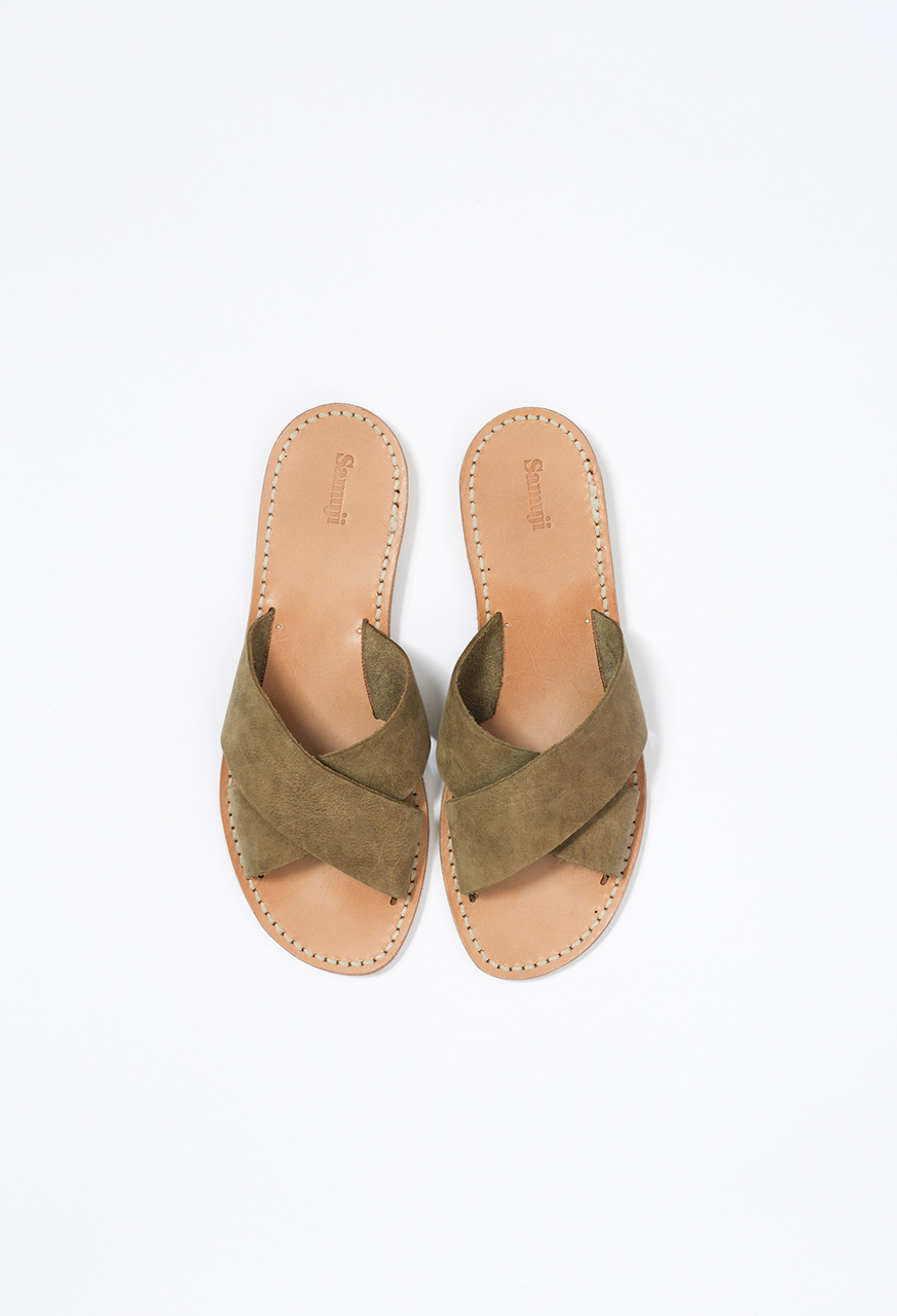 Samuji-ss17-cross-strap-sandals-green-