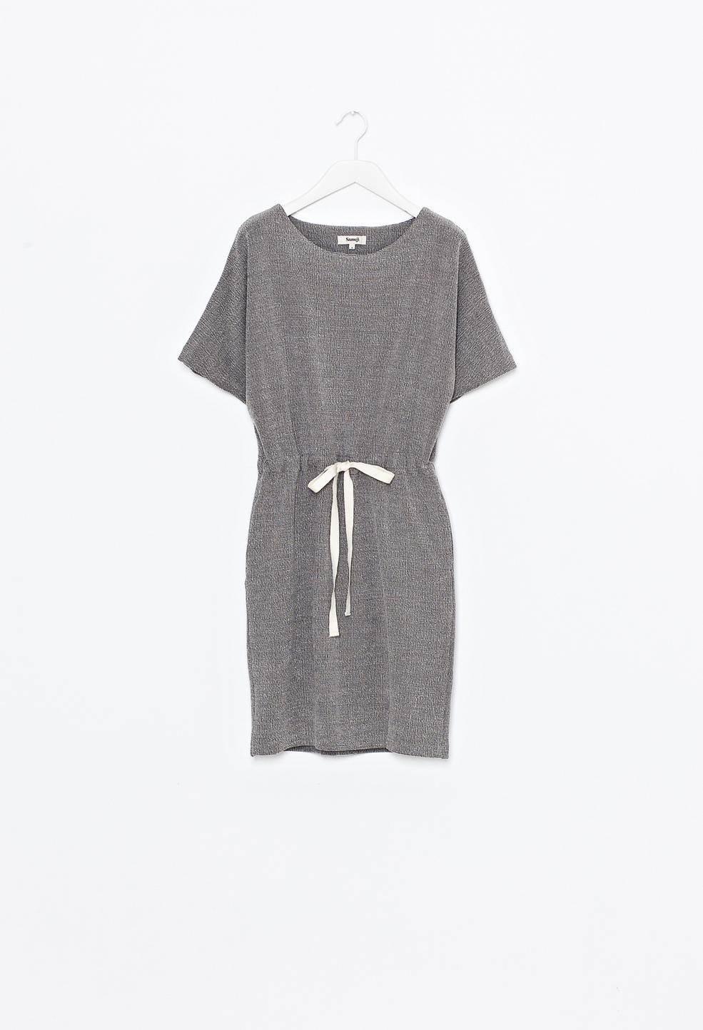 Cade Dress Gray/White