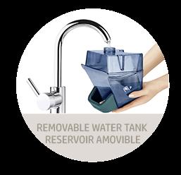 tanque de agua removible