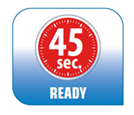 Esta plancha es rápida y eficiente, ya que solo necesita de 45 segundos para calentarse y ser utilizada