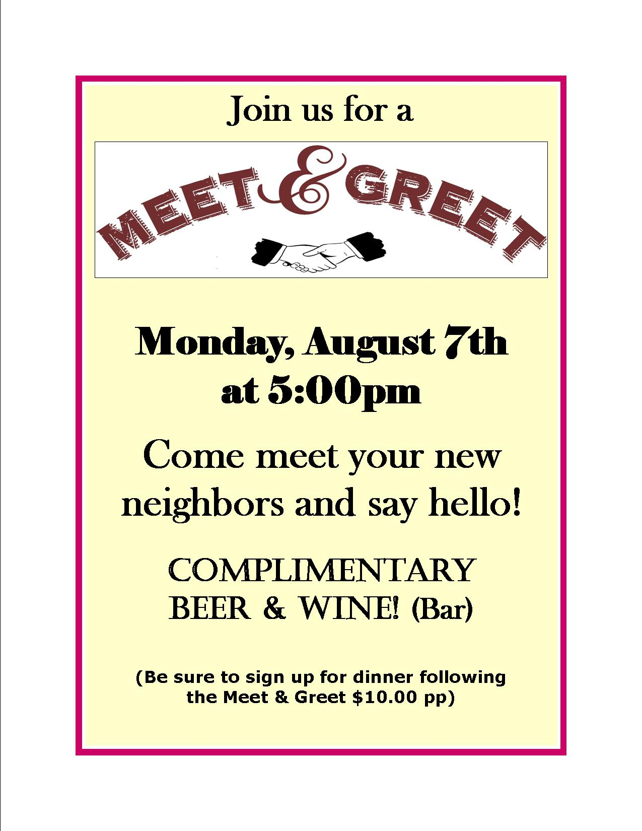 meet and greet flyers