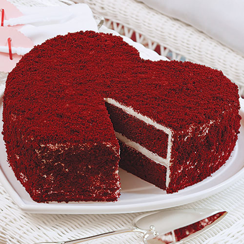 Red Heart Cake Images : Big-Heart Red Velvet Cake Sandra Lee
