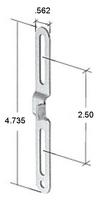 """Truth Hardware 4-3/4"""" Steel Casement Window Latch Keeper"""