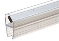 "Shower Door 45 Degree Magnetic Profile for Glass-To-Glass fits 5/16"" and 3/8"" Glass"