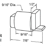 "Sealed Unit 7/8"" Vent Wheel for Indal Windows"