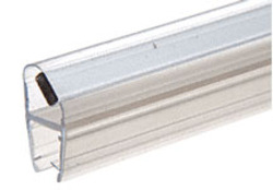 "Shower Door 135 Degree Magnetic Profile for Glass-To-Glass fits 5/16"" and 3/8"" Glass"