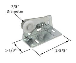 "Pocket Door 7/8"" Round Edge Nylon Roller Assembly"