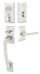 Emtek Modern Brass Keypad Entrance Handleset