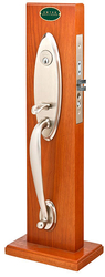 Emtek Memphis Brass Mortise Entrance Handleset
