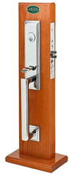 Emtek Manhattan Brass Mortise Entrance Handleset