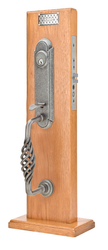 Emtek Lafayette Wrought Steel Monolithic Mortise Entrance Handleset