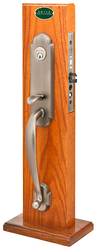 Emtek Charleston Brass Mortise Entrance Handleset