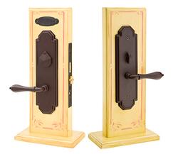 Emtek Lost Wax Cast Bronze Octagon Mortise Sideplate Locks