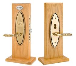 Emtek Oval Ribbon & Reed Mortise Sideplate Locks