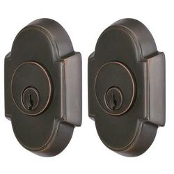 Emtek #8 Style Solid Brass Double Cylinder Deadbolt