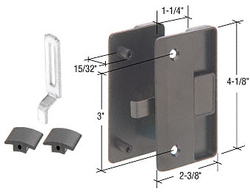 """Sliding Screen Door Latch and Pull with 3"""" Screw Holes for 1/2"""" Thick Columbia Series 4000 Doors"""