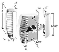"""Sliding Screen Door Chrome Latch and Pull with 2-3/8"""" Screw Holes"""
