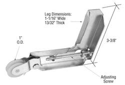 """Sliding Screen Door 1"""" Nylon Corner Roller Assembly for Metal Industry"""