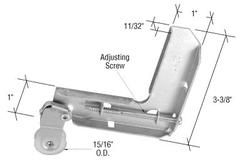 "Stamped Aluminum Corner Insert With 15/16"" Nylon Ball-Bearing Center Groove Sliding Screen Door Roller for Jim Walters"
