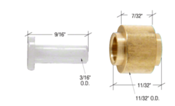 """Sliding Window 11/32"""" Brass Replacement Roller with Axle Pin for Viking Series M70 Windows"""