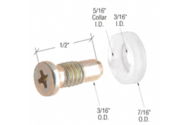 """Sliding Window 7/16"""" Nylon Replacement Roller with Axle Screw for Rolleze Windows"""