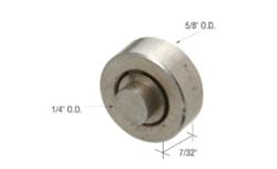 "Sliding Window  5/8"" Steel Ball-Bearing Roller with Axle for Acorn Windows"