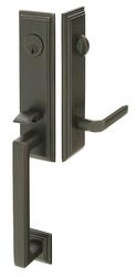 Emtek Wilshire Brass Tubular Entrance Handleset