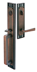 Emtek Arts & Crafts Brass Tubular Full Length Entrance Handleset