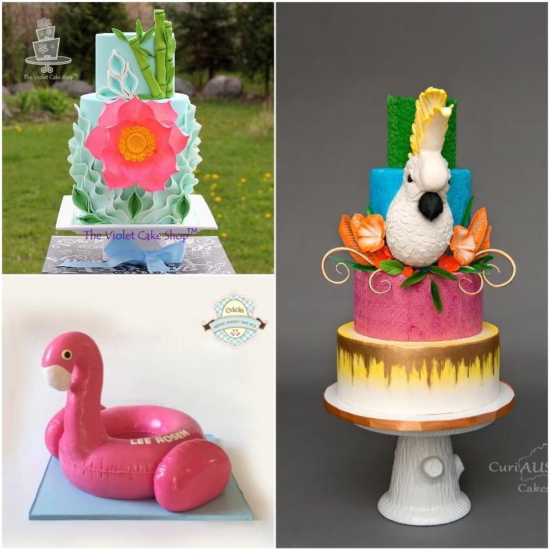 Satin Ice Tropical Pink Fondant Cakes