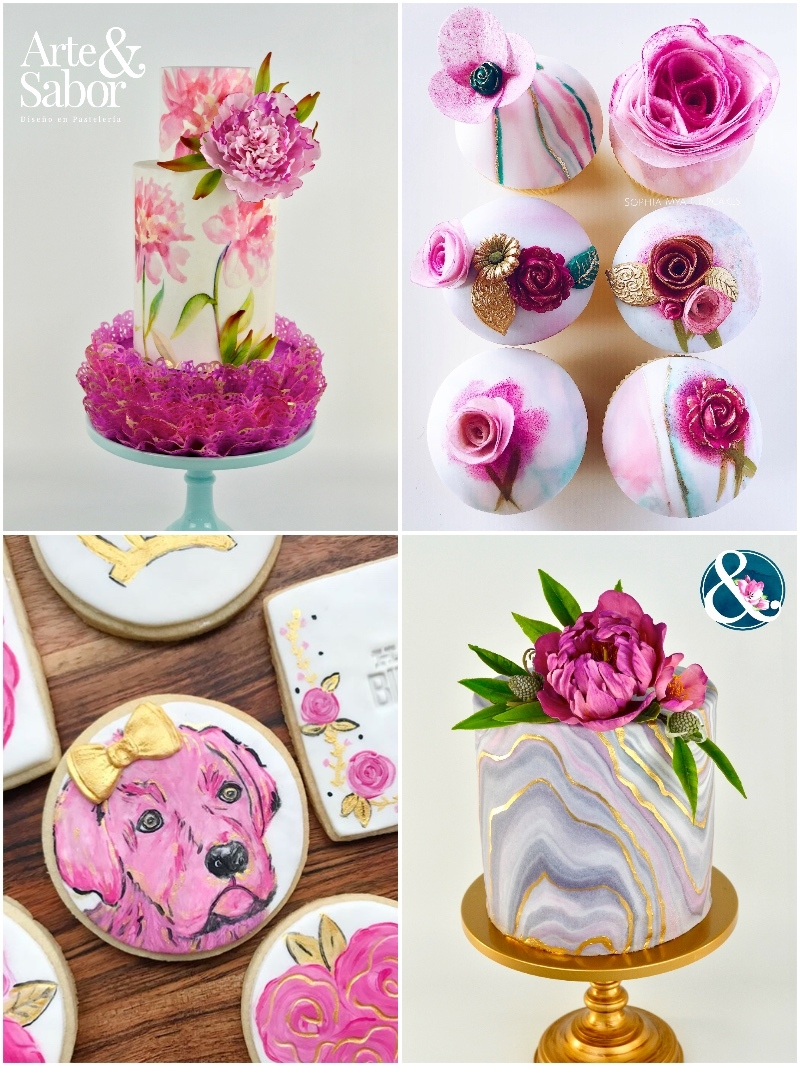 Satin Ice Fuschia Fondant Cakes & Cupcakes