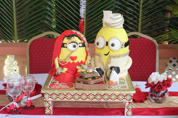 Indian themed minion wedding