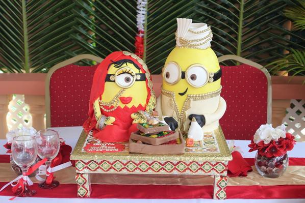 Indian themed minion wedding