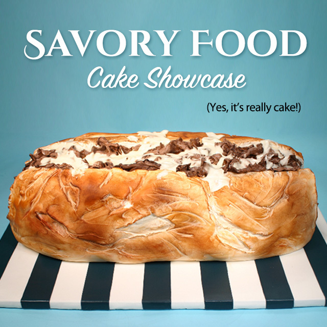 Savory Food Cake Social Square Rev
