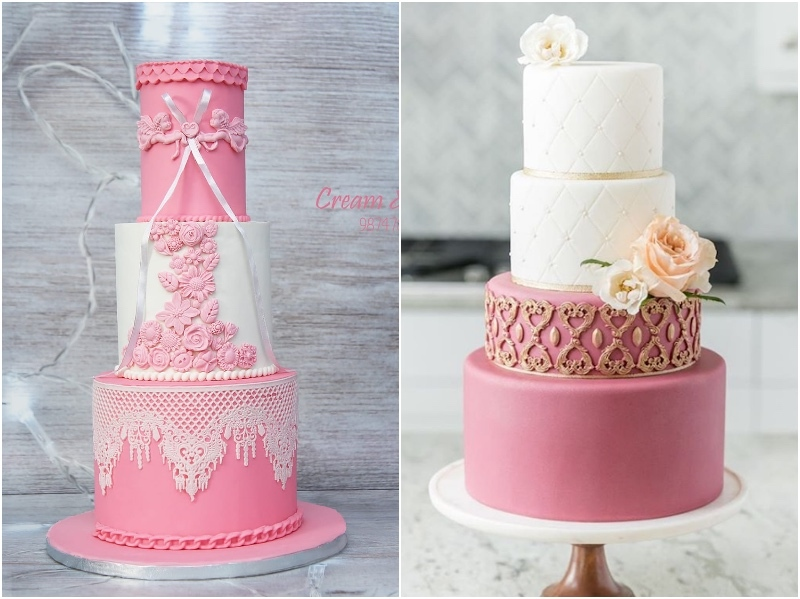Satin Ice Floral Soft Pink Fondant Cakes