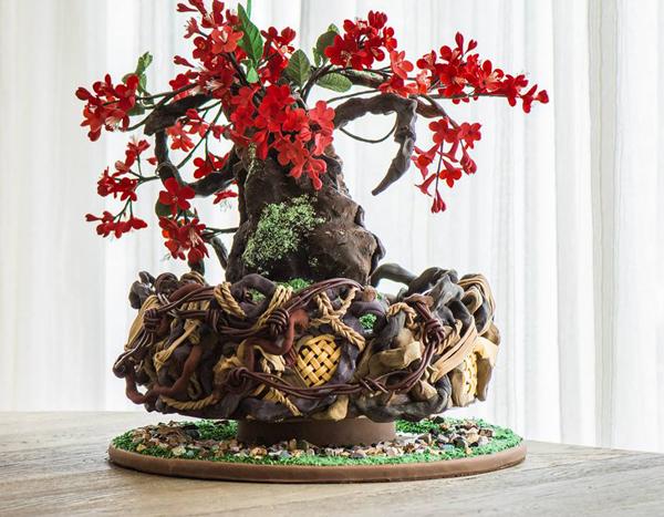 Sculpted Garden Tree