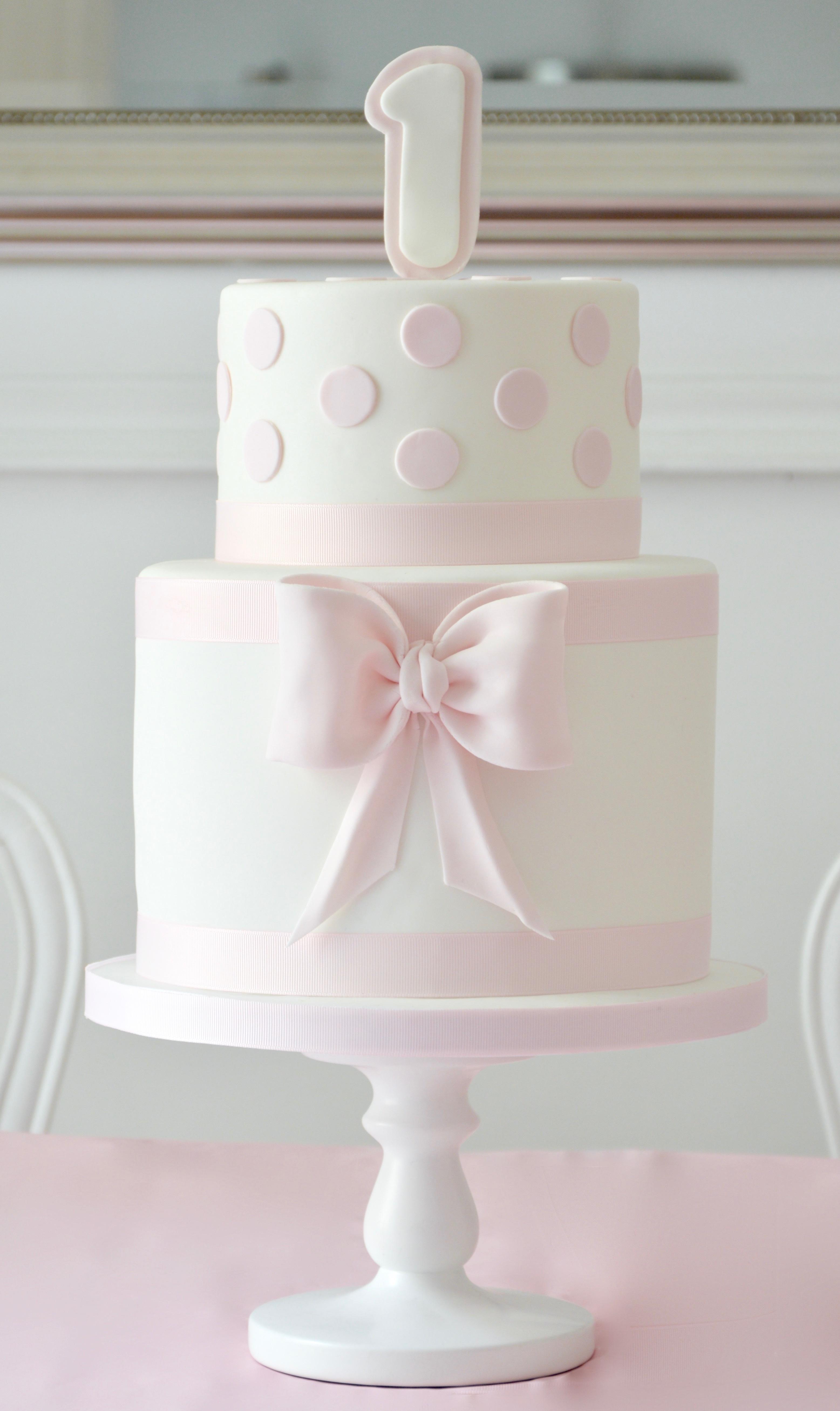 Pink & white Polka Dot Birthday