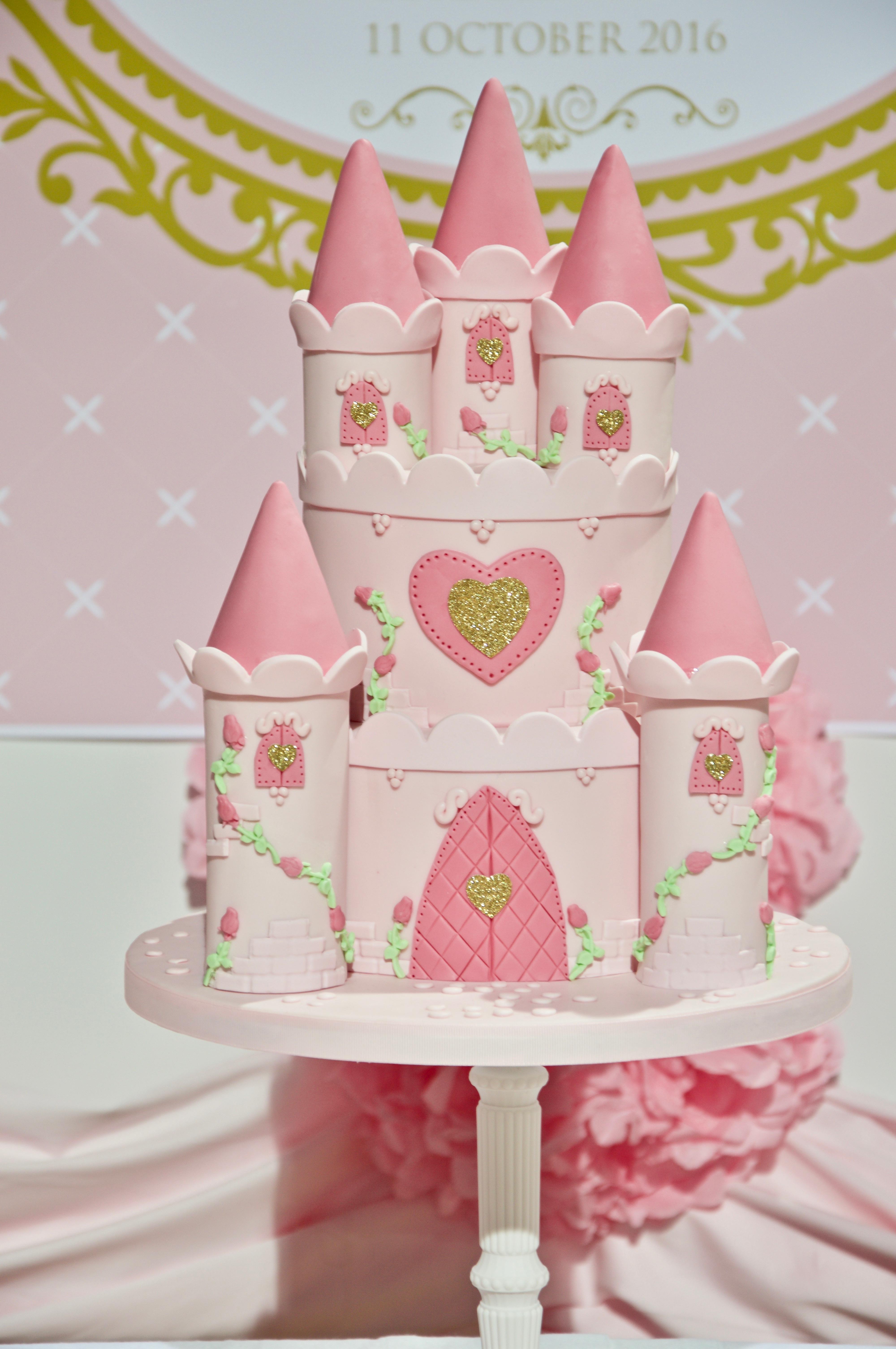 Pink Princess Caste Birthday Cake