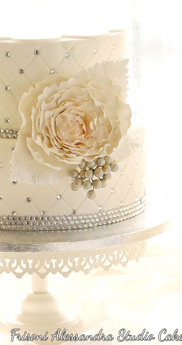 White Quilted Cake