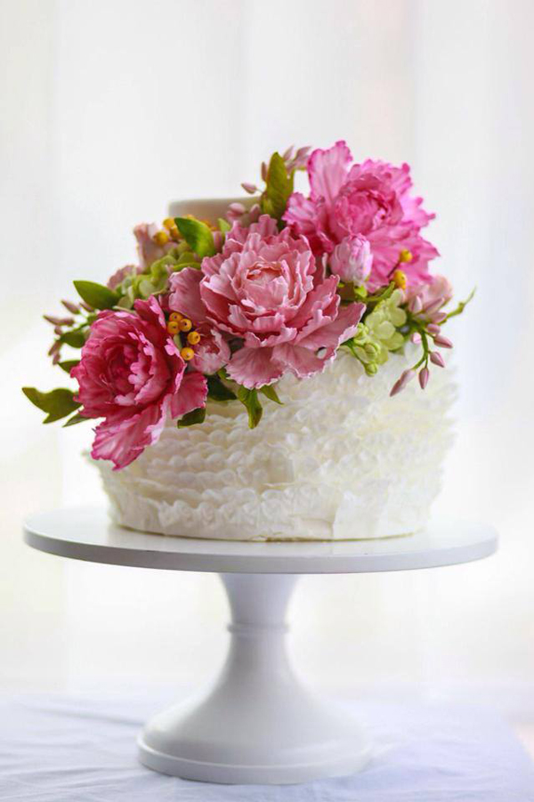 White Frill Cake