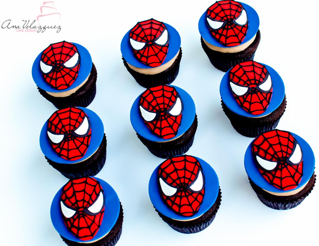 Spiderman fondant cupcakes