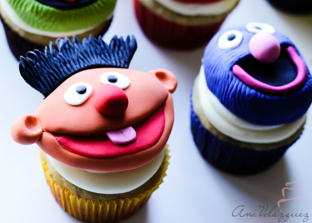 Ernie and Grover Cupcake